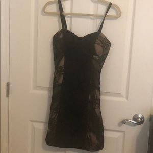 Buffalo David Bitton Dress black lace with tan